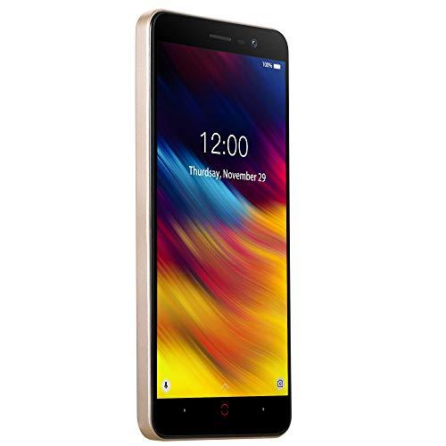 igeschaltet -4000Mah Batterie 5.0 '' HD 1GB RAM + 8GB ROM Smartphone freigeschaltet Android,Gold ()