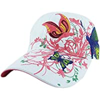 Vinteen Al Aire Libre Mujer Ms Ocio Moda Mariposa Bordado Flor Gorra de Béisbol  Sombrero Movimiento cb2c4a3792d