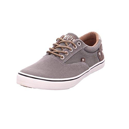 MUSTANG Shoes Sneaker in Übergrößen Khaki 4101-301-777 große Herrenschuhe, Größe:49