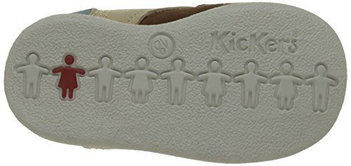 Kickers Babystan Baby Jungen Lauflernschuhe Beige (Beige Foncé Bleu)