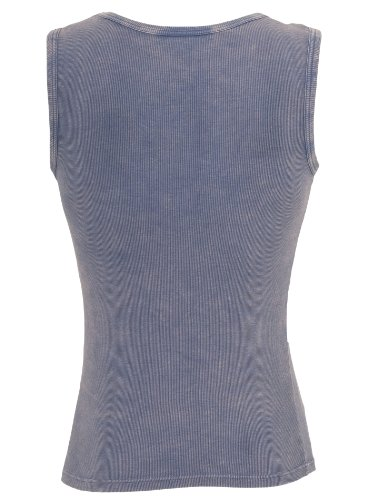 Urban Classics Herren Tank Top slimfit Rundhals Faded Denimblue