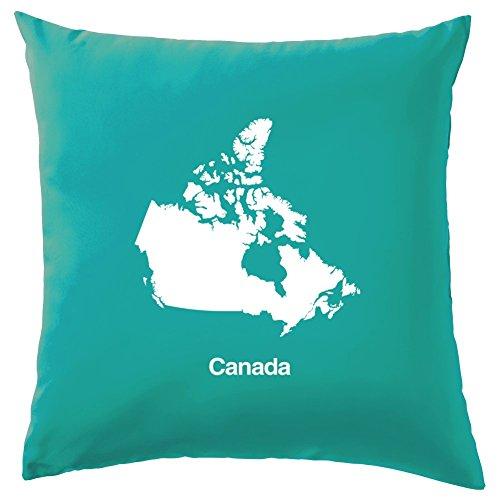 Kanada Silhouette Kissen–41x 41cm (40,6cm)–10Farben, 100 % Baumwolle, türkis, 41 x 41cm (16