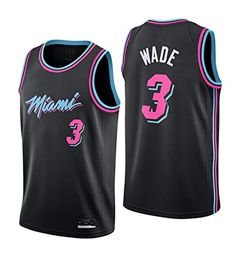 Basketball Kleidung Wade Heat 3 City Edition Trikot, Match Anzug Weste, Männer benutzerdefinierte atmungsaktiv Sweat Shirt-Black-L