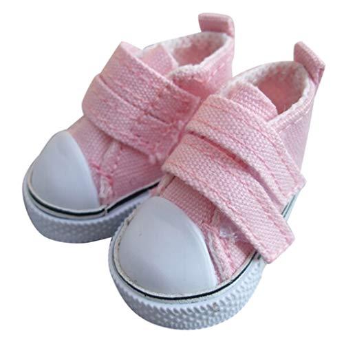 babysbreath17 1 Paar 5cm Puppe Schuhe Seakers Puppe Spielzeug Schuhe Sport Tennisschuhe Kind-Geschenk-Spielzeug Rosa 5 * 2.6cm - Rosa Tennisschuhe
