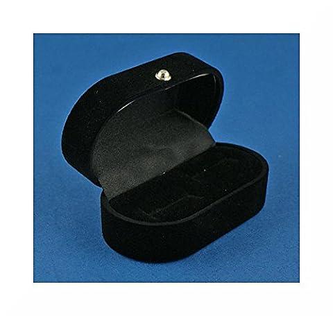 Premium Quality Black Velvet Cuff link Box