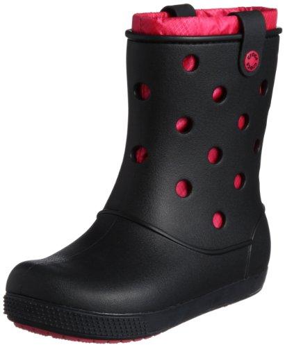 crocs Crocband Airy Boot W 14645-01L, Damen Schlupfstiefel, Schwarz (Black/Raspberry 01L), 36/37 (Herstellergröße: W6)