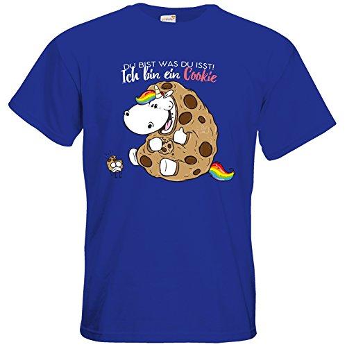 getshirts - Pummeleinhorn - T-Shirt - Du bist was du isst Royal Blue