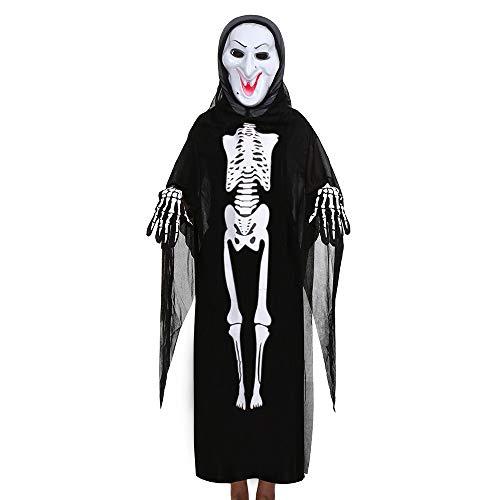 QIMANZI Kleinkind Jungs Mädchen Kinder HalloweenCosplay Kostüm Umhang + Maske + Handschuhe Outfits Eingestellt(D)