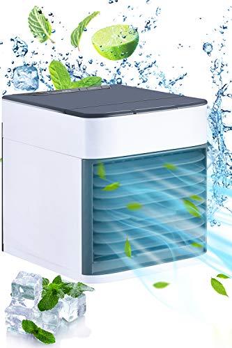 in 1 Mini Air Cooler, Mobile Klimagerät-Luftbefeuchter und Luftreiniger, USB Ventilator 3 Kühlstufen für zu Hause, Büro, Auto, Hotel, Garage, Camping. ()