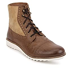 Knotty Derby Mens Wood and Tan Boots - 9 UK/India (43 EU)
