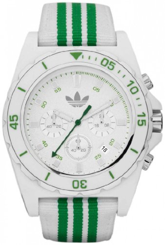 Adidas Men's Stockholm ADH2667 Green Stainless-Steel Quartz Watch with White Dial