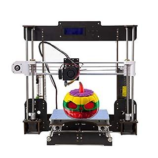 Abcs Printing 2018 desktop 3d DIY Printer PK CTC 3D Printer Non assembled 3d Printer With diy 3d printer kit, Upgraded CPU Motherboard and advanced Stepper motor,Metal Extruder 1.75mm PLA filament