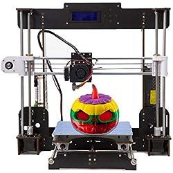 Abcs Printing A8 Impresora 3d Pantalla LCD Impresora DIY Alta precisión autoensamblaje admite ABS / PLA Tamaño de impresión 220 x 220 x 240 mm