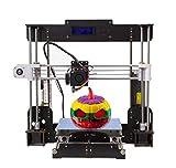 2018 Imprimante 3D, A8 Prusa i3,Imprimante 3D DIY kit, mise à niveau de la carte mère CPU et Moteur pas à pas avancé, Métal MK8 extrudeuse en filament PLA/ABS 1.75mm,Grand Taille 220 * 220 * 240mm