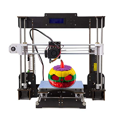 Abcs Printing 3D Drucker, A8 Prusa i3, 3D Drucker Bausatz, Upgrade CPU Motherboard und Advanced Schrittmotor, Metall MK8 Extruder Filament PLA / ABS 1.75mm, Große Größe 220 * 220 * 240mm