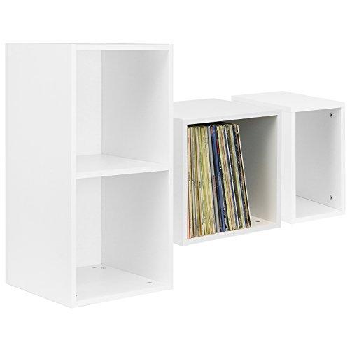 Hartleys Vinyl-Aufbewahrungskasten für die Schallplattensammlung, in Weiß -