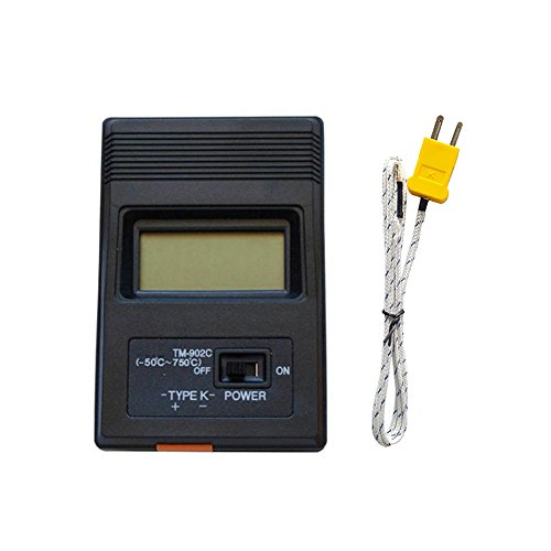 Mengshen Digitales Temperaturmessgerät (-50 Bis 1300 ° C), K-Typ Thermometer + 2 Sonden, TH07 -