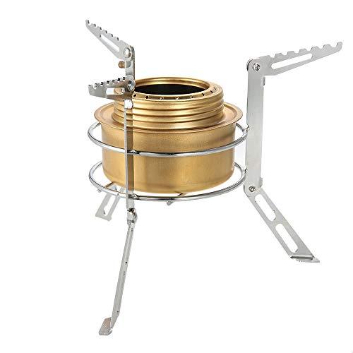 Ofen-gestell (Haiyemao Edelstahlschnalle Tragbarer Edelstahl-Campingstand-Stand-im Freienalkohol-Ofen-Gestell-Bein-Stützkochausrüstung-Zusatz Rucksack-Schlüsselanhänger für Bergsteiger)