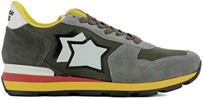 Atlantic Stars Herren ANTARESCMP89B Grün Stoff Sneakers