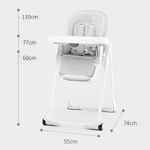 Silla de comedor para niños Silla de comedor portátil plegable para bebés Mesa de comedor multifuncional para bebés ( Color : Azul )