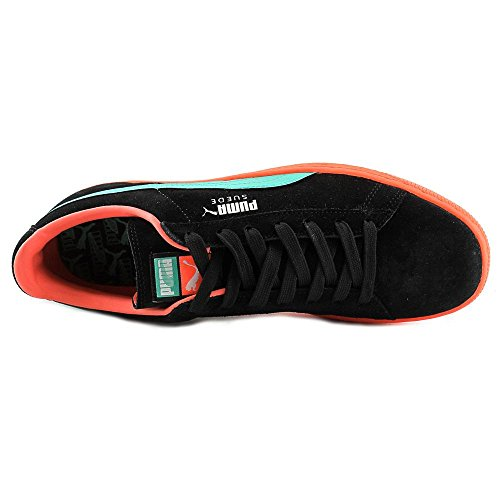 Puma Suede Classic Leather Sneaker bande PUMA Black Fluo-Teal-Fluo Peach