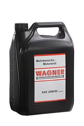 WAGNER Mehrbereichsmotorenöl SAE 20W/50, unlegiert - 460005 - 5 Liter