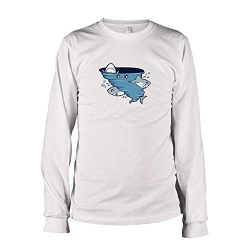 TEXLAB - Cute Shark Tornado - Langarm T-Shirt, Herren, Größe XXL, (Shark Kostüm Fin)