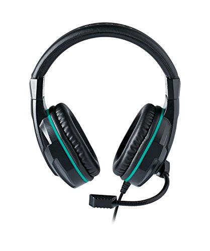 NACON PCGH-110 Casque Audio Binaural Bandeau Noir, Turquoise - Casques Audio (Console de Jeux, Binaural, Bandeau, Noir, Turquoise, Rotatif, avec Fil)