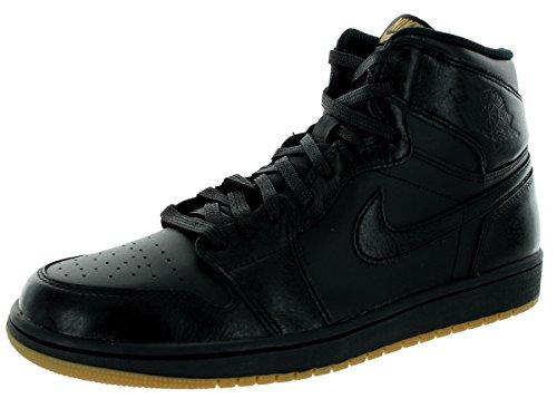 Nike Air Jordan 1 Retro High Og, Chaussures de Sport Homme, Blanc, S Noir / marron (noir / noir - gomme, marron clair)