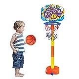 Vovotrade Stand de Basket Enfants Panier de Basket Pied Réglable en Hauteur Jeux Jouet de Sport Basketball Royals Toddler Basketball Hoop Toy Kit extérieur intérieur 1x Panier, 1x Basket, 1x Pompe