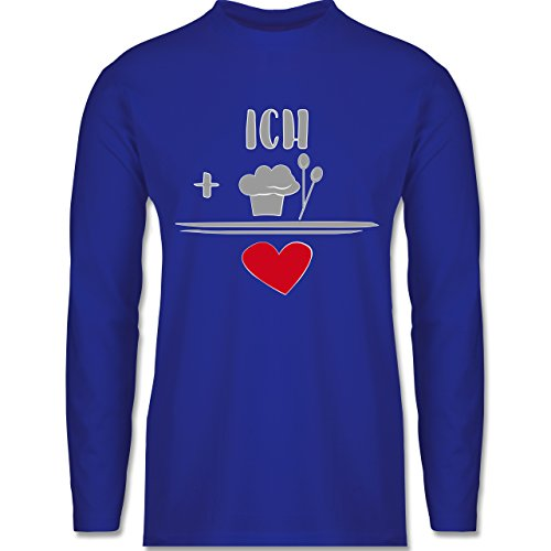 Küche - Ich liebe Kochen - Longsleeve / langärmeliges T-Shirt für Herren Royalblau