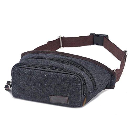 DONG Herren / Freizeit / Sport / Leinwand / Outdoor / kleine Tasche / Handtasche / Brusttasche Black