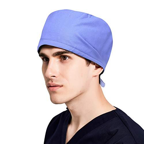 erren Scrub Cap Damen Surgical caps Medizinische Chirurgenhaube für Küche Tierarzt Zahnarzt Pflege Kopftuch mit Elastische Krankenschwester OP Kappe für lange Haare kurze Haare ()