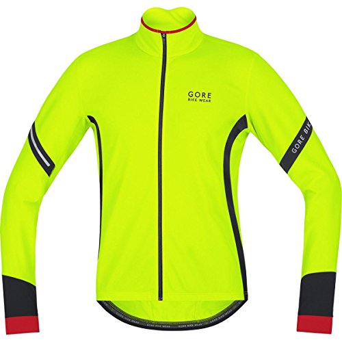 Gore Bike Wear Power 2.0 Termo - Camiseta de ciclismo para hombre, color amarillo y negro, talla M