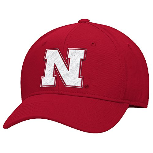 Adidas NCAA Performance Structured Adjustable Hat Hut - Red (Nebraska Hat)