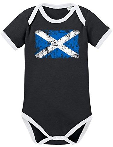 hottland Vintage Flagge Fahne Kontrast Baby Body 68 Schwarz ()
