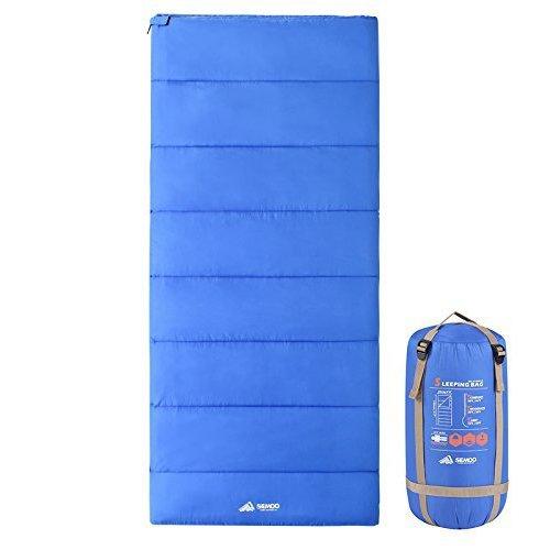 Semoo sacco a pelo molto leggero, impermeabile, per campeggio, trekking, attività all'aria aperta, 2 stagioni, borsa di compressione, misure 190 x 84 cm, colore blu