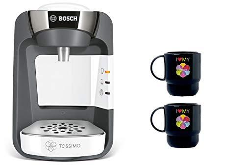 Bosch TAS3204 Tassimo Suny Multi-Getränke-Automat 1300 W + 2x Tupperware Becher Kaffeemaschine