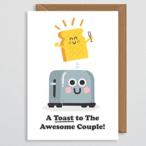 te - Hochzeit Toast - Wortspiel Hochzeit - Hochzeitskarte für Braut und Bräutigam - Hochzeitsgeschenk - Glückwunschkarte - bester Freund - Bruder - Feier - für ein Paar ()