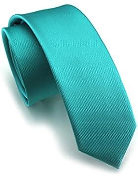 Elviros Corbata estrecha 6cm para hombres fina original para negocios, fiestas o bodas