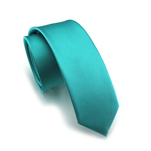 Elviros Corbata estrecha 6cm para hombres fina original para negocios, fiestas o bodas, verde olivo