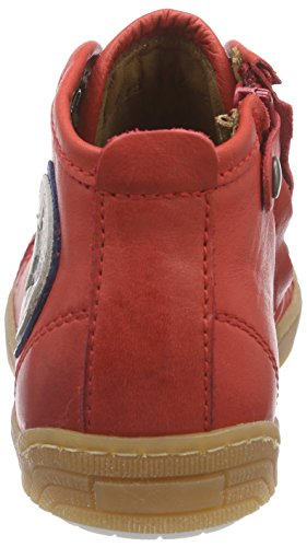 Bisgaard Shoe With Laces, Baskets hautes mixte enfant Rouge - Rot (10 Red)