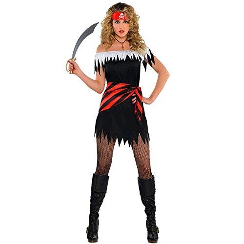 Piratenbraut Kostüm Ahoy Katie Damen Gr. (Kostüm Matrose Stiefel Mit)