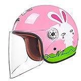 ZXW Elektrische Motorrad Helm Moped Kind Halbe Helm Männer Und Frauen Baby Helm Kinder Vier Jahreszeiten Universale (Farbe : C, größe : L26*H23cm)