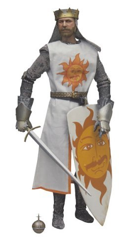 GRAHAM CHAPMAN AS KING ARTHUR * The Dirty Knights Collection (Muddy Version) * 12 Inch Monty Python and the Holy Grail 2002 Sideshow Toy Collectible Action Figure by Monty Python