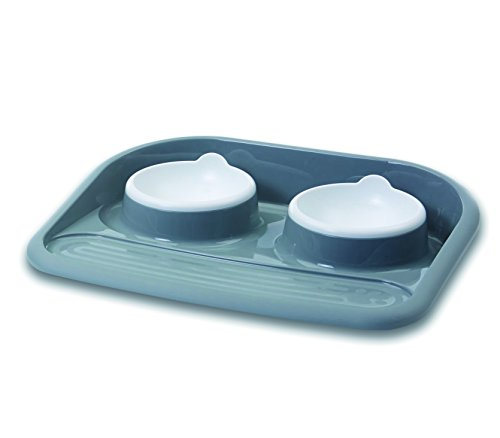 "Dinner Serving Tray ""Butler\"" grau 2 x 300 ml"