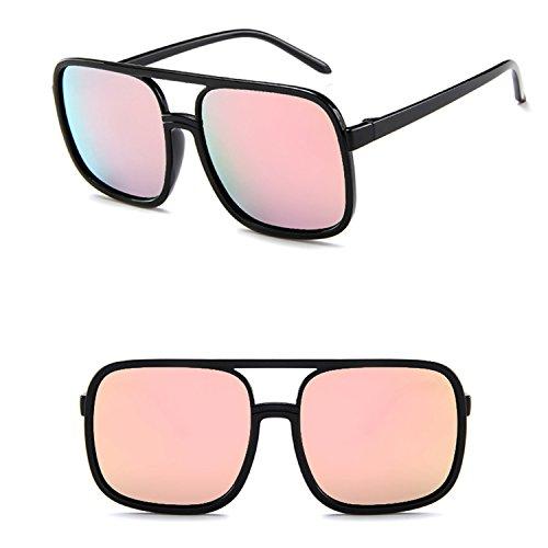 Yiph-Sunglass Sonnenbrillen Mode Mode Sonnenbrillen für Frauen gespiegelte Lens15977 Zubehör (Color : Yellow)