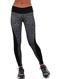 FEITONG Las mujeres se divierte los pantalones de las polainas del Athletic Gym Yoga Fitness Workout Pantalones