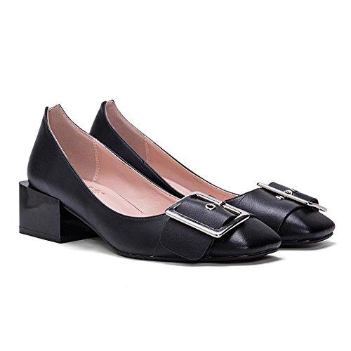L@YC® Frauen Flache Schuhe Seitenschnalle Mit Einem Einfachen Flachen Mund Casual Sandalen Tanz Pumpe Weiß Black