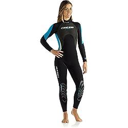 Cressi Morea Lady - Combinaison Monopièce Femme pour Surf Plongée Natation - Premium Néoprène 3mm